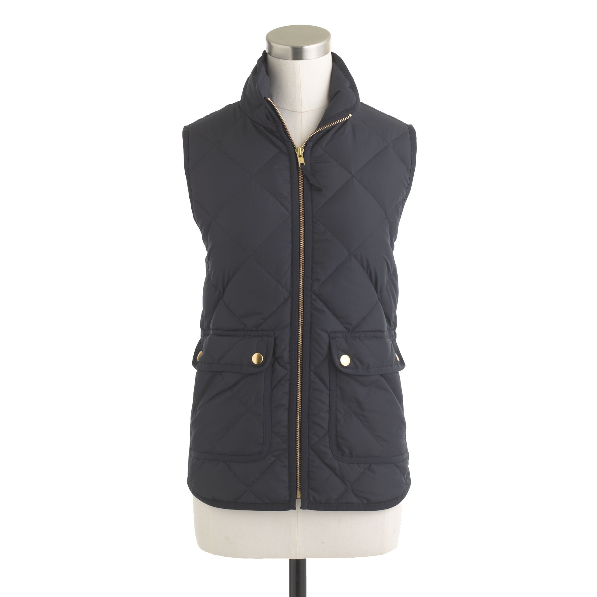 excursion quilted vest in blue navy lyst