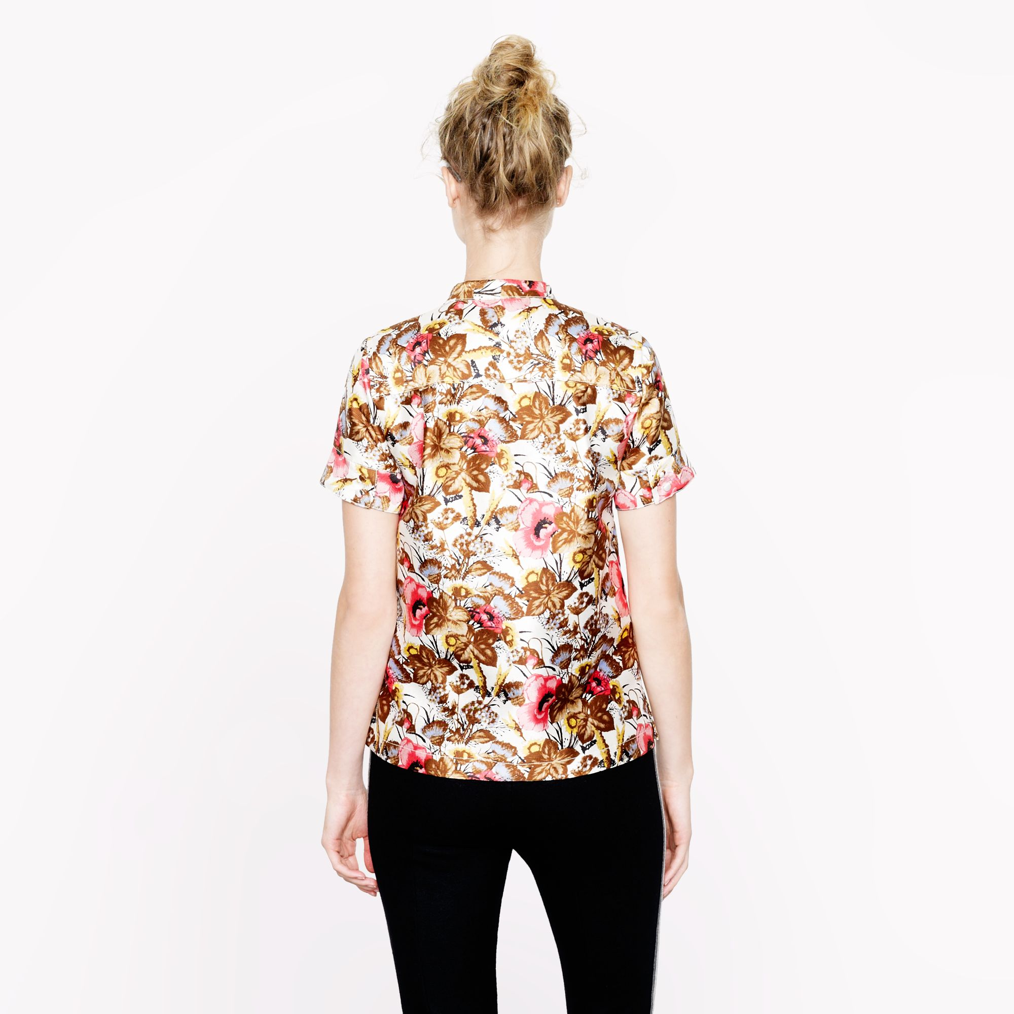 J.Crew Collection Antiqued Floral Top in Pink
