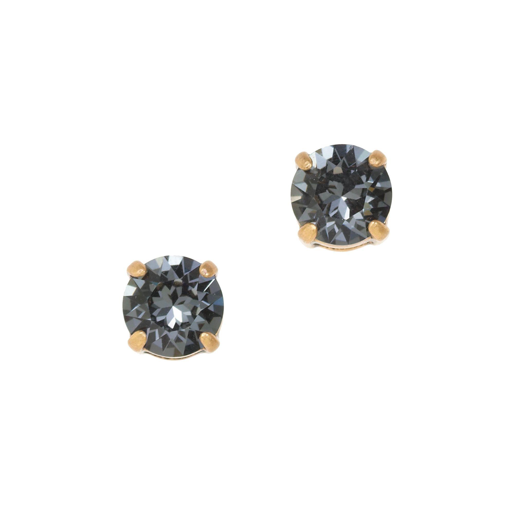 cc1aca285 J.Crew Swarovski Crystal Dot Earrings in Gray - Lyst