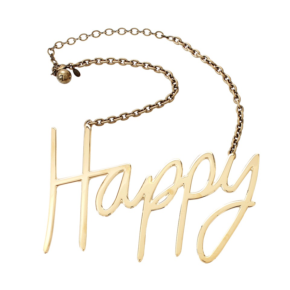lanvin happy necklace in gold lyst