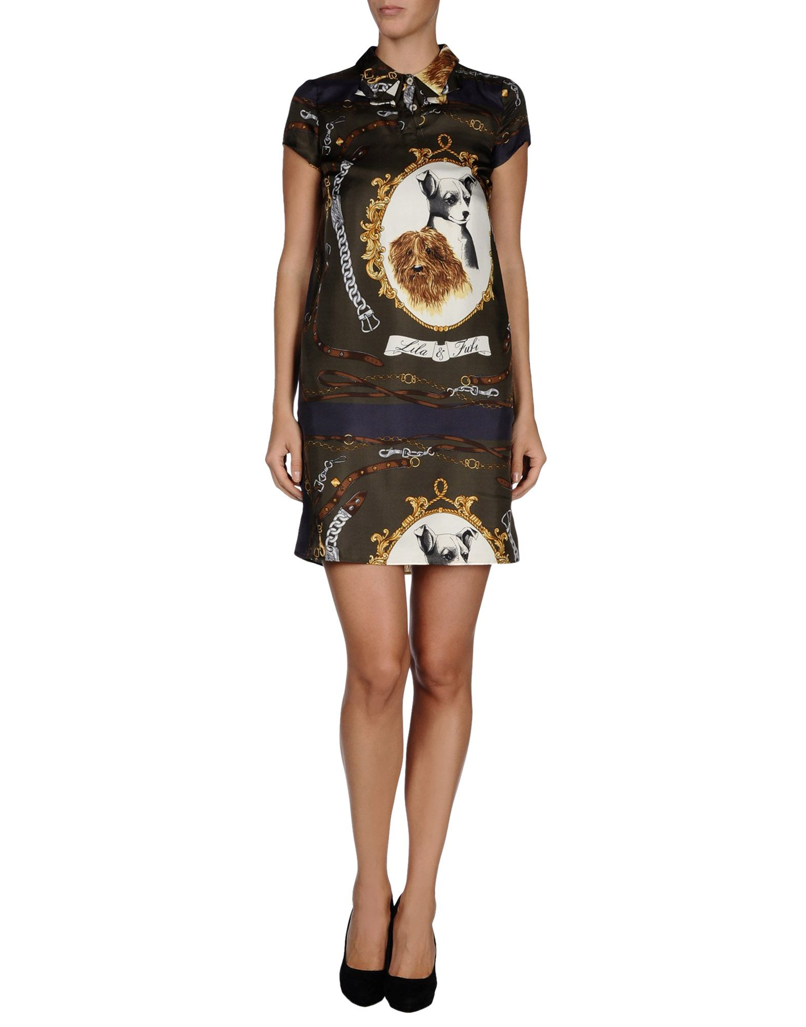 Rolf S Nyc Love Moschino Short Dress In Green Lyst
