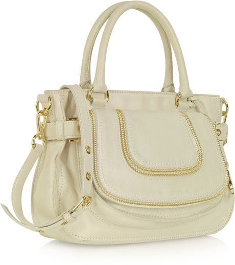 Clearance Michael Kors Naomi Satchels - Bags Michael Kors Naomi Vanilla Leather Medium Satchel