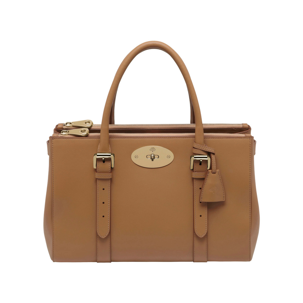 Lyst - Mulberry Bayswater Double Zip Tote in Brown 7d93f45a889fa