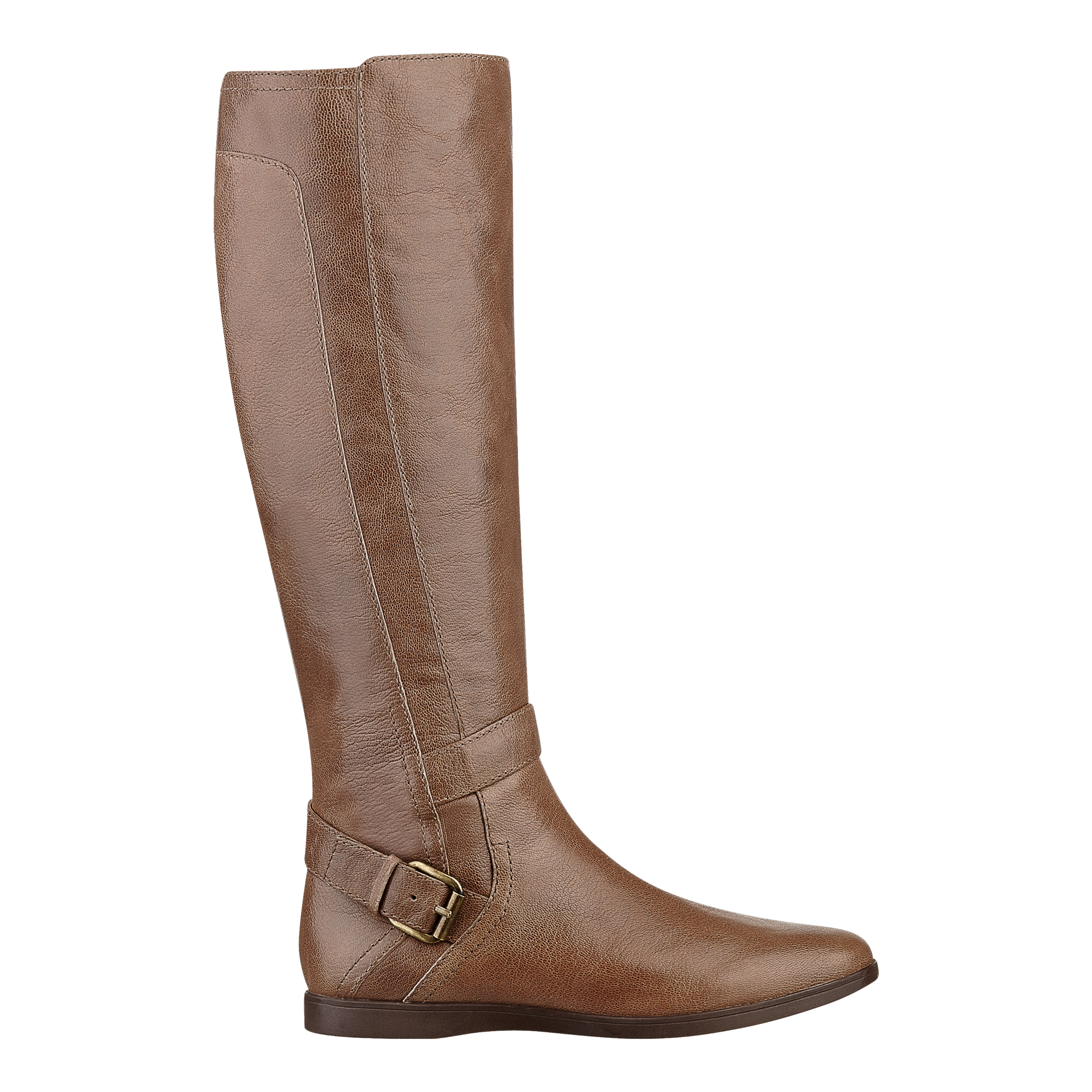 nine west toxicatn boot in brown taupe leather lyst