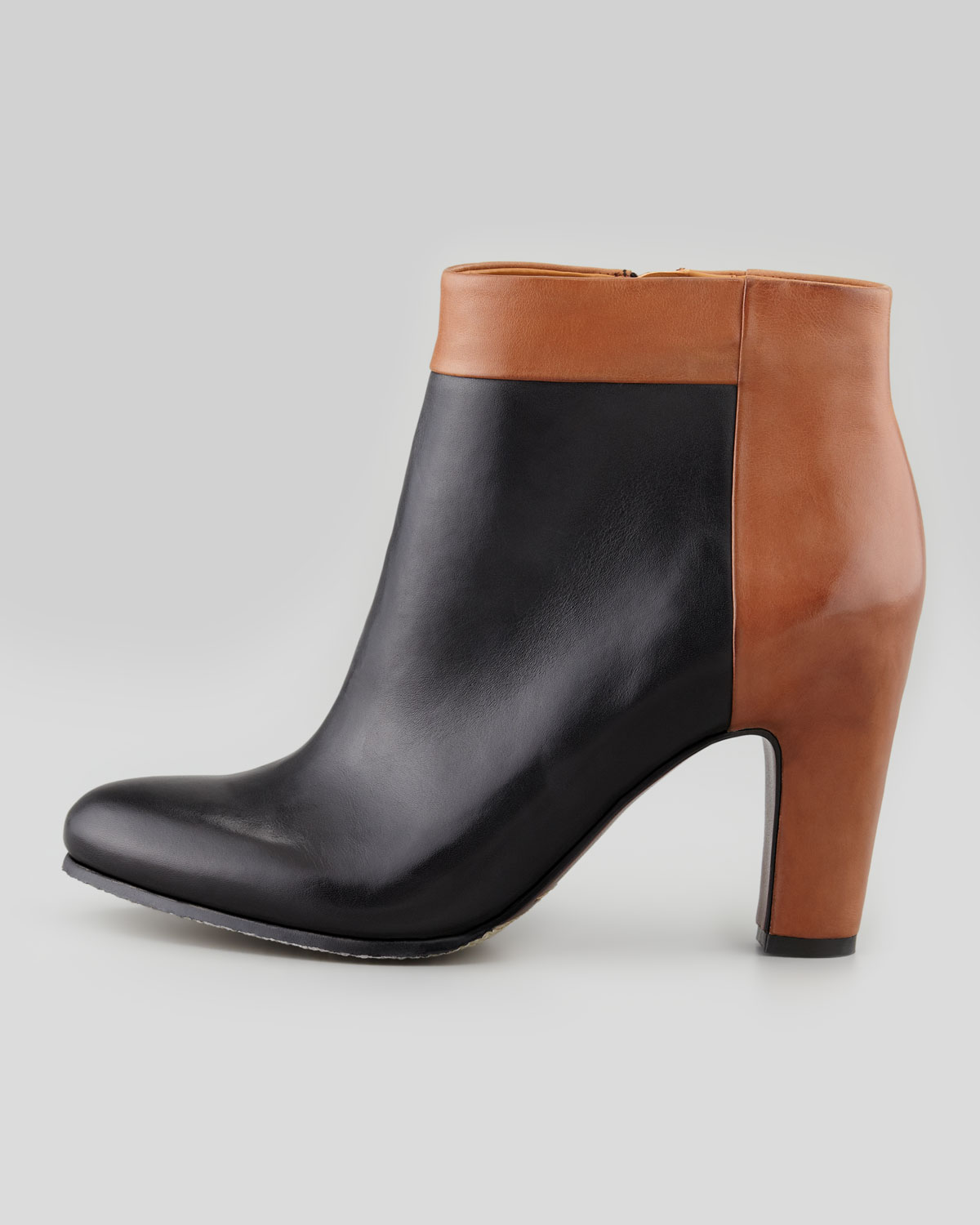 44189d687f68 Lyst - Sam Edelman Shay Twotone Leather Bootie in Brown