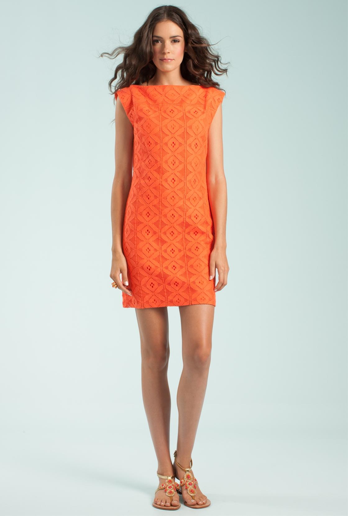 6739dda74e834d Trina Turk Almost Paradise Dress in Orange - Lyst