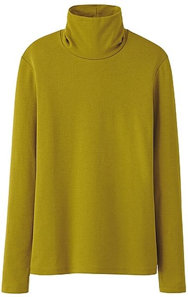 Uniqlo premium cotton turtle neck long sleeve tshirt in for Uniqlo premium t shirt