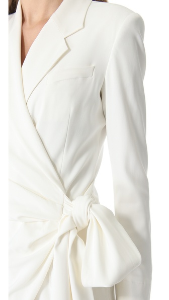 c4d221d0a87 Lyst - Viktor   Rolf Long Sleeve Bow Jumpsuit in White