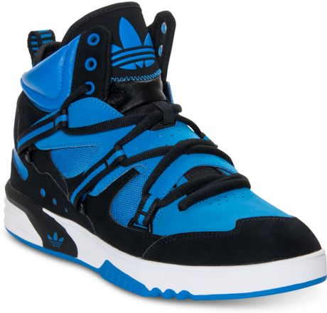 Adidas Roundhouse Instinct Casual Sneakers in Black for Men (BLUE