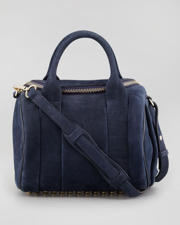 Alexander wang Rockie Small Crossbody Satchel Bag Navy in Blue | Lyst
