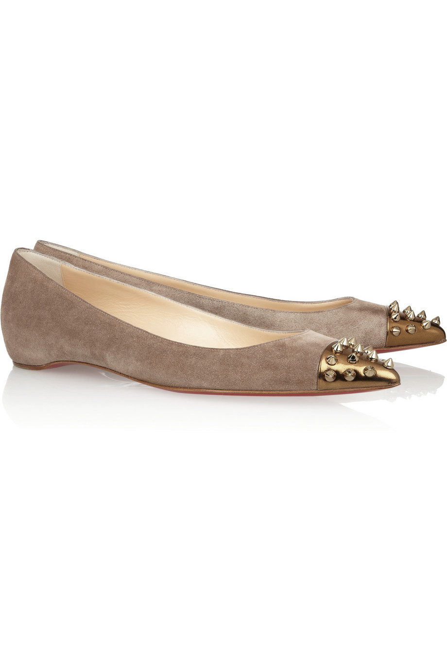 Lyst Christian Louboutin Geo Spiked Suede And Leather