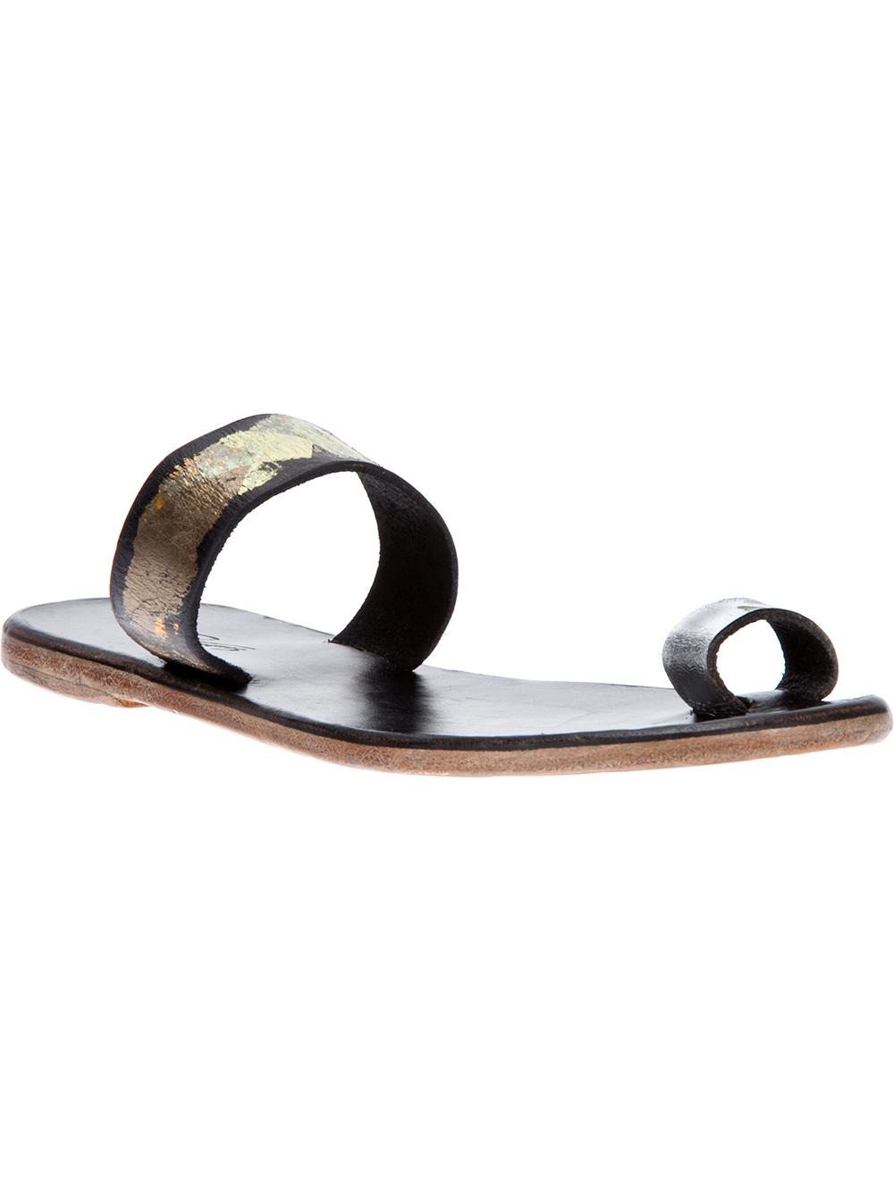 68eda2a268fe95 Lyst - Dimissianos   Miller Daktylo Sandal in Black