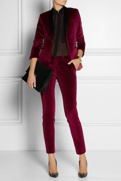 Beautiful  Pants Vanessa Bruno France Suit Women Cashmere Blend S Burgundy  EBay