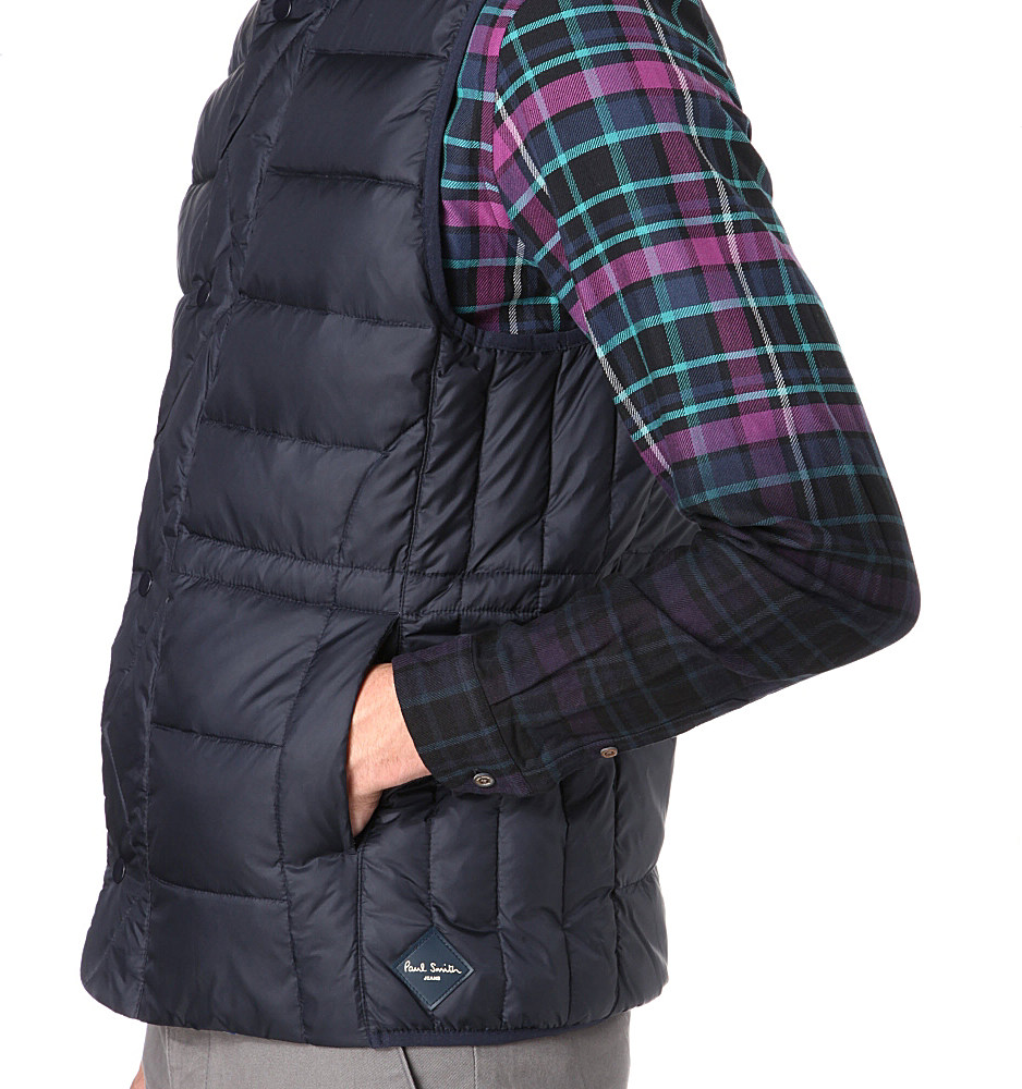Paul Smith Paul Smith Jeans Down Gilet in Navy (Blue) for Men