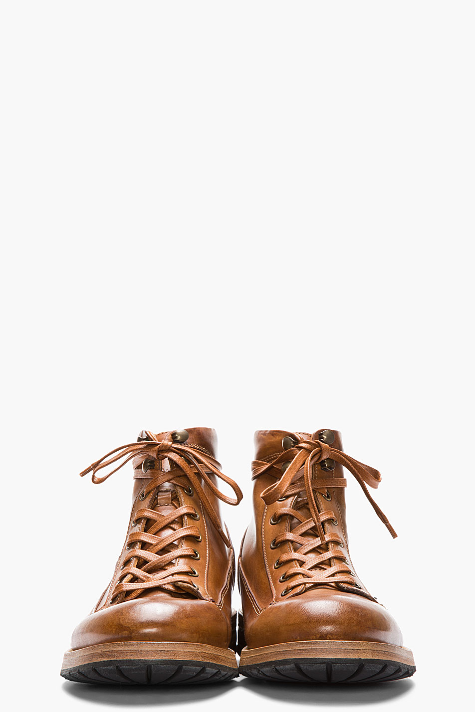 Paul Smith Tan Leather Beat Up Stubbs Boots In Brown For