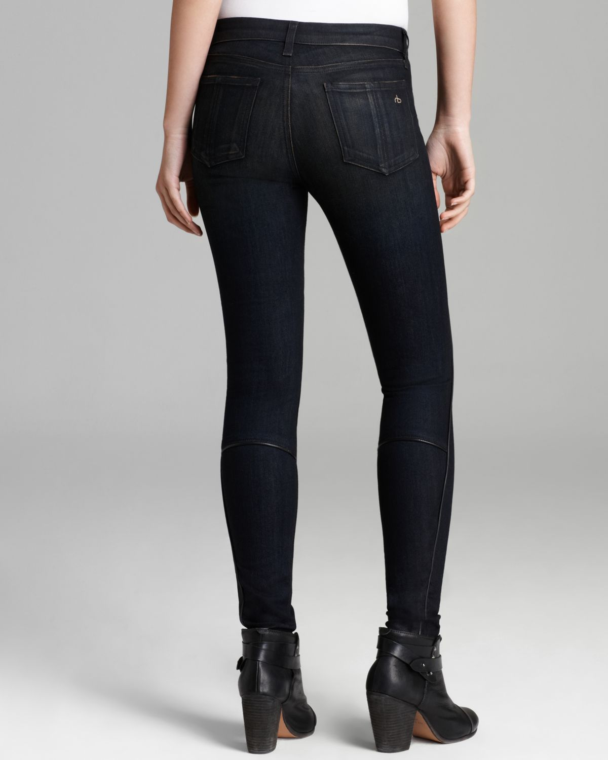 Rag & Bone Jeans The Bomber Legging in Wakefield in Black