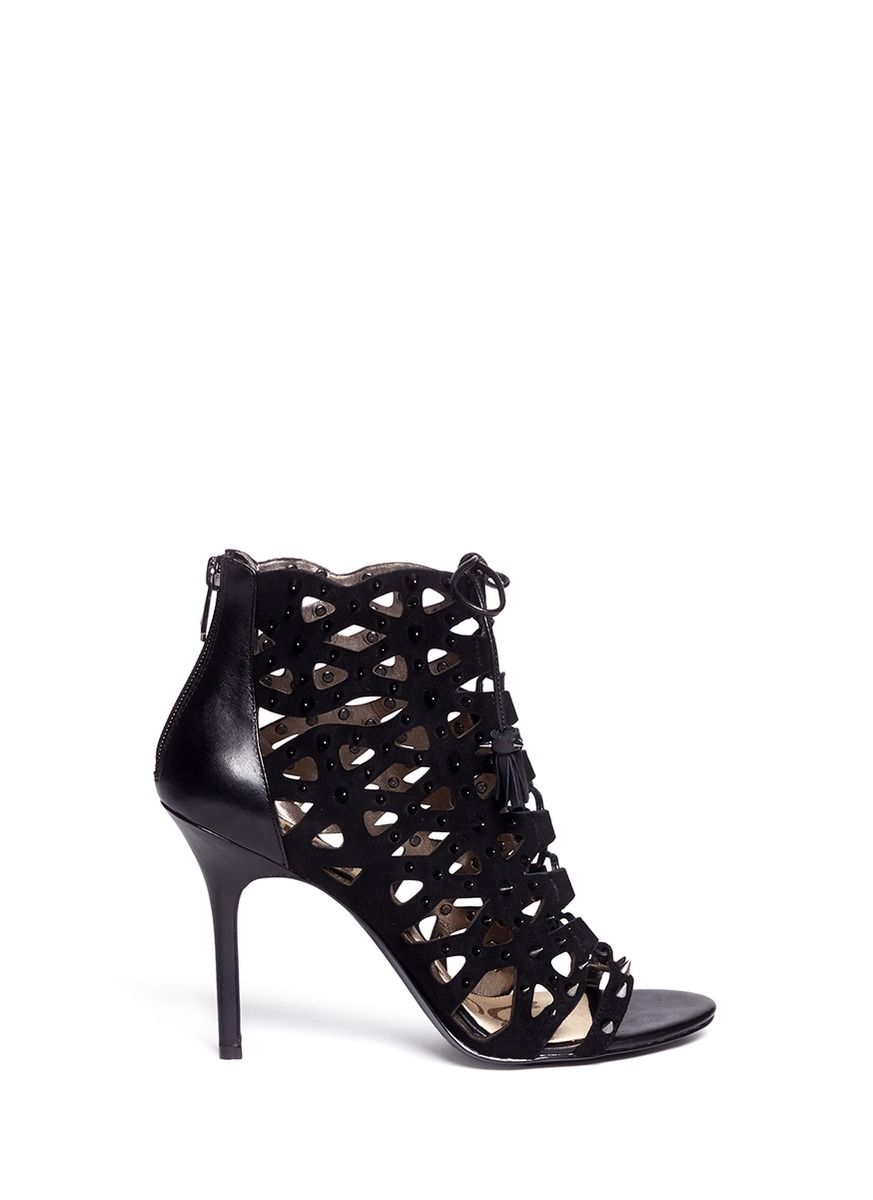 a8e7653bc Lyst - Sam Edelman Arela Studded Cage Sandals in Black