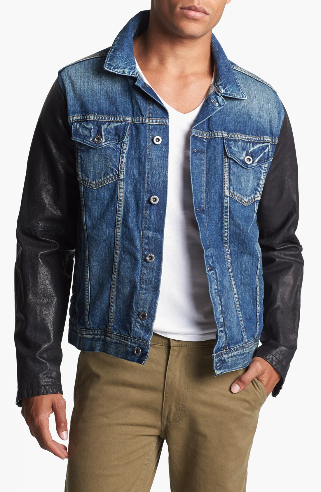 Denim Jacket Leather Sleeves Men 5 Reviews. there are even women that are engaged in collectingDenim jacket leather sleeves menand have a collection of the dresses in different designs, color and styles and so fabulousdown4allb7.cf are made from refined cotton which will give them a contented feel. purchase many fashionableDenim jacket leather sleeves menin this article with your own .