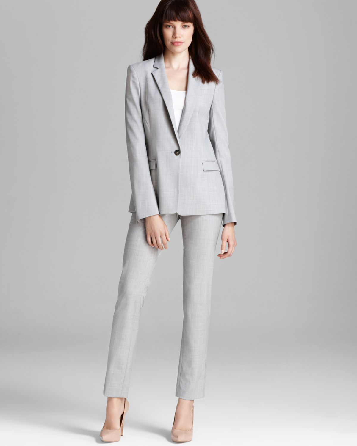 Lyst Theory Suit Blazer Dancey Reedly 1 In Gray