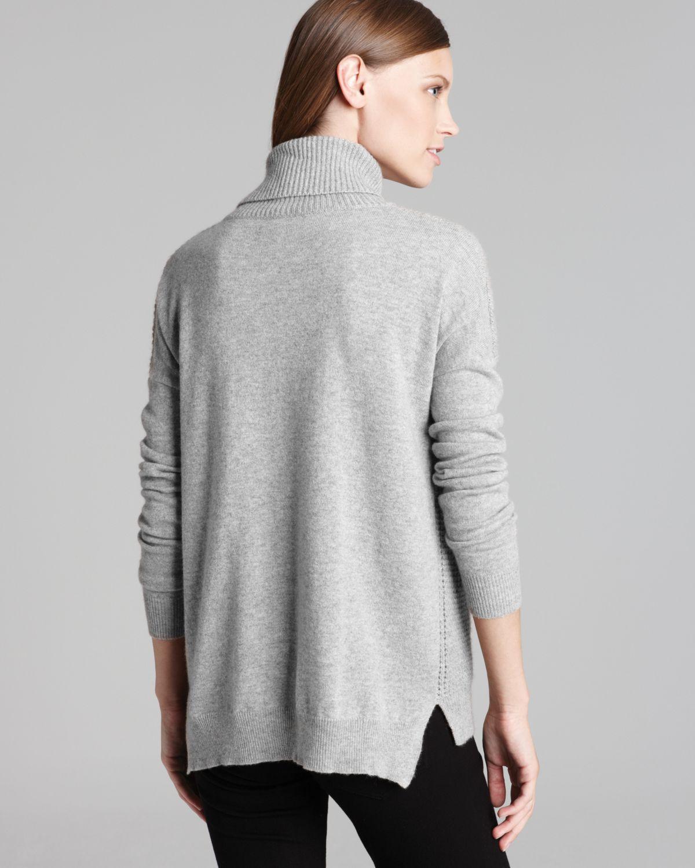 Theory Sweater Aldanta Cashmere Turtleneck In Gray Lyst