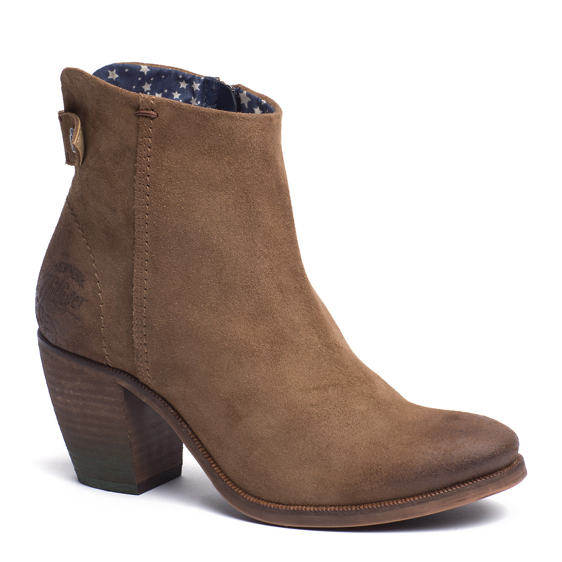 tommy hilfiger ivy ankle boots in brown dark sand lyst. Black Bedroom Furniture Sets. Home Design Ideas