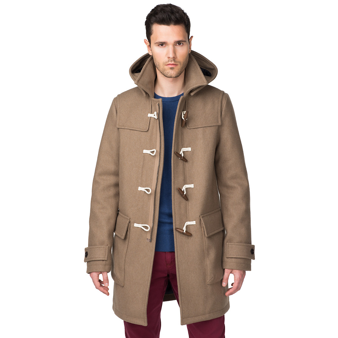 tommy hilfiger duffle coat in brown for men desert taupe lyst. Black Bedroom Furniture Sets. Home Design Ideas