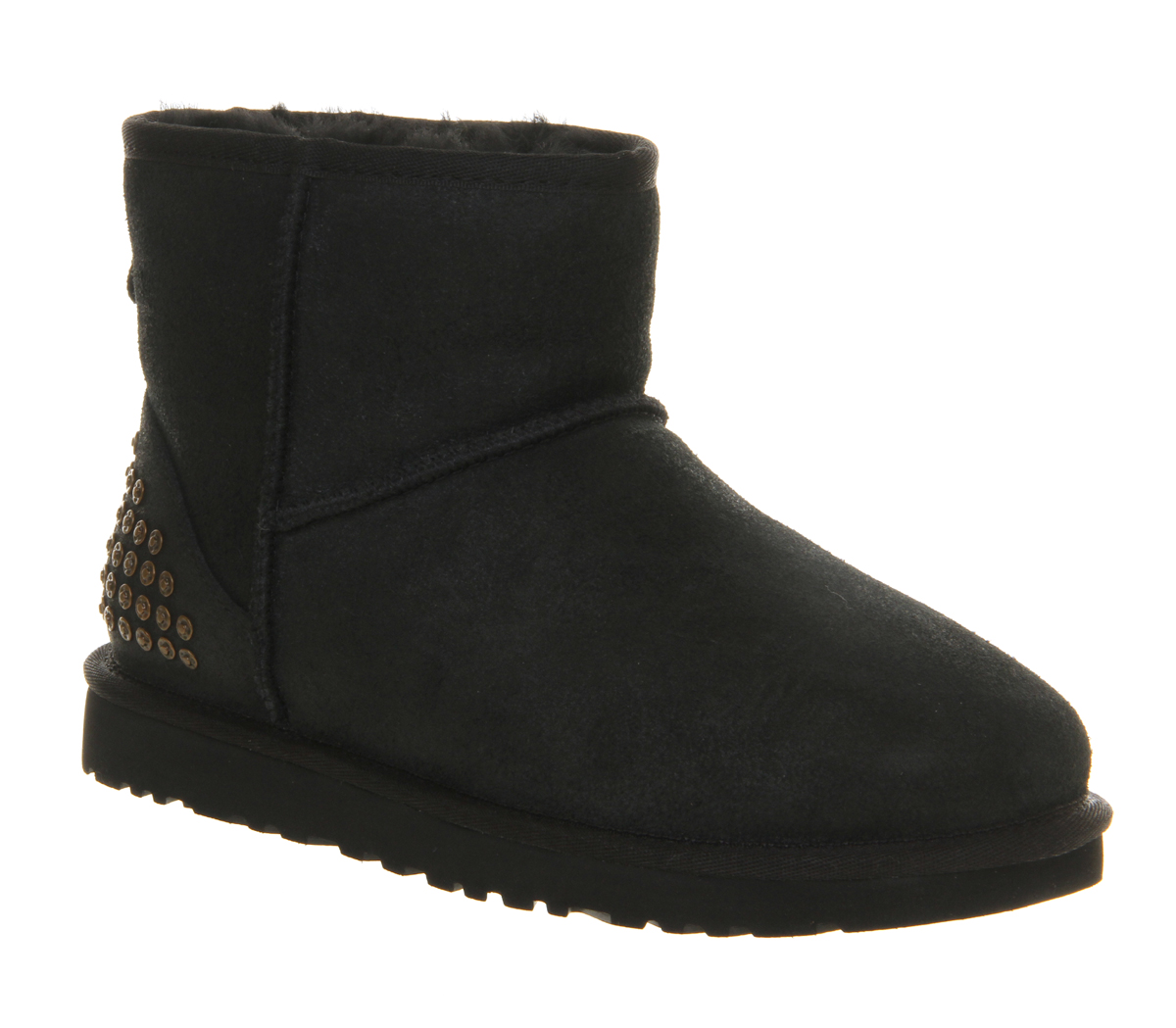 ugg classic mini leather in black lyst