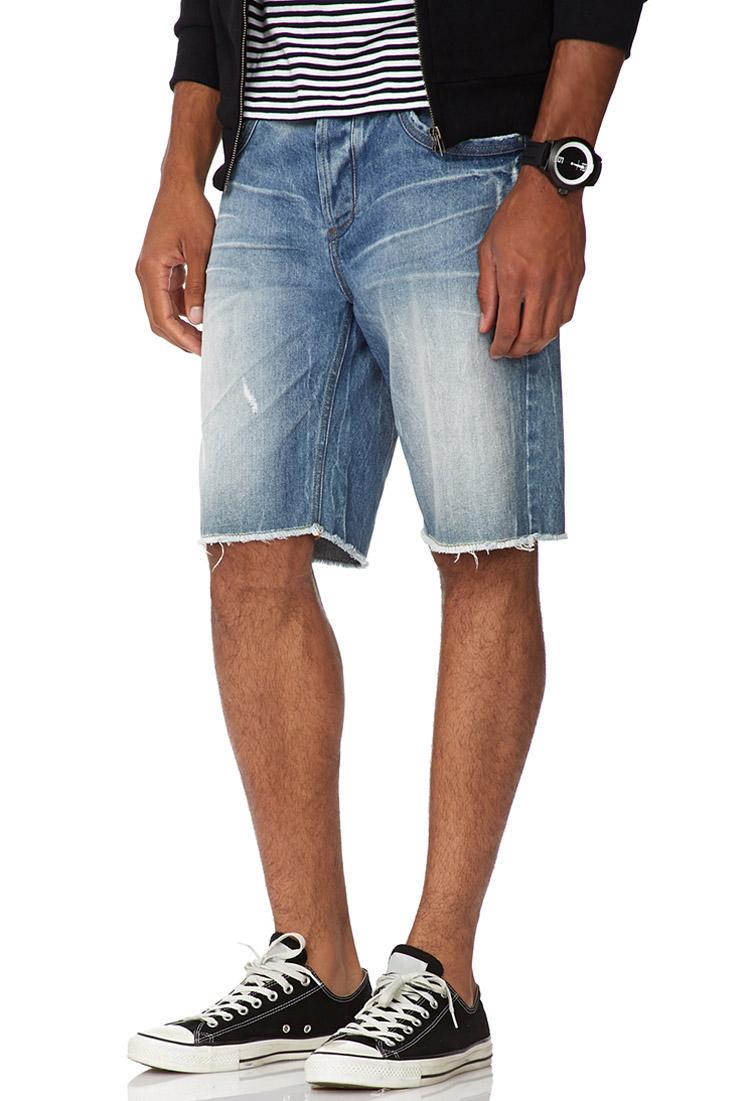 Forever 21 Cut-off Denim Shorts- Medium Wash in Blue for Men | Lyst