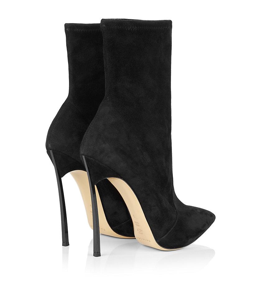 Casadei Blade Midcalf Boot in Black