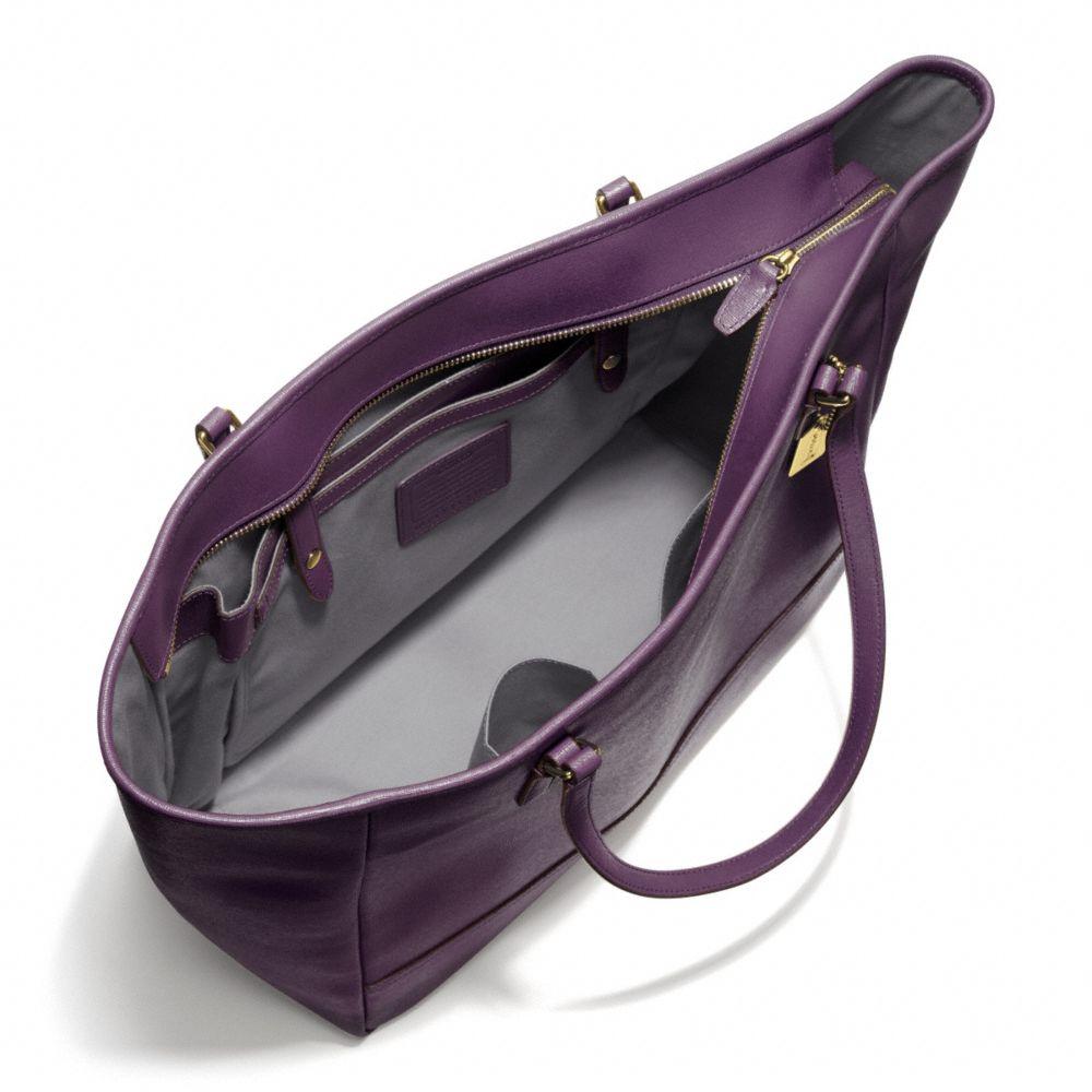 e9928ab27fe0 Lyst - COACH Large City Tote in Saffiano Leather in Purple