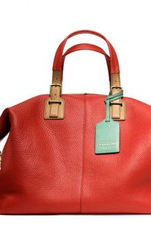 Coach Soft Legacy Travel Satchel in Pebbled Leather - Lyst