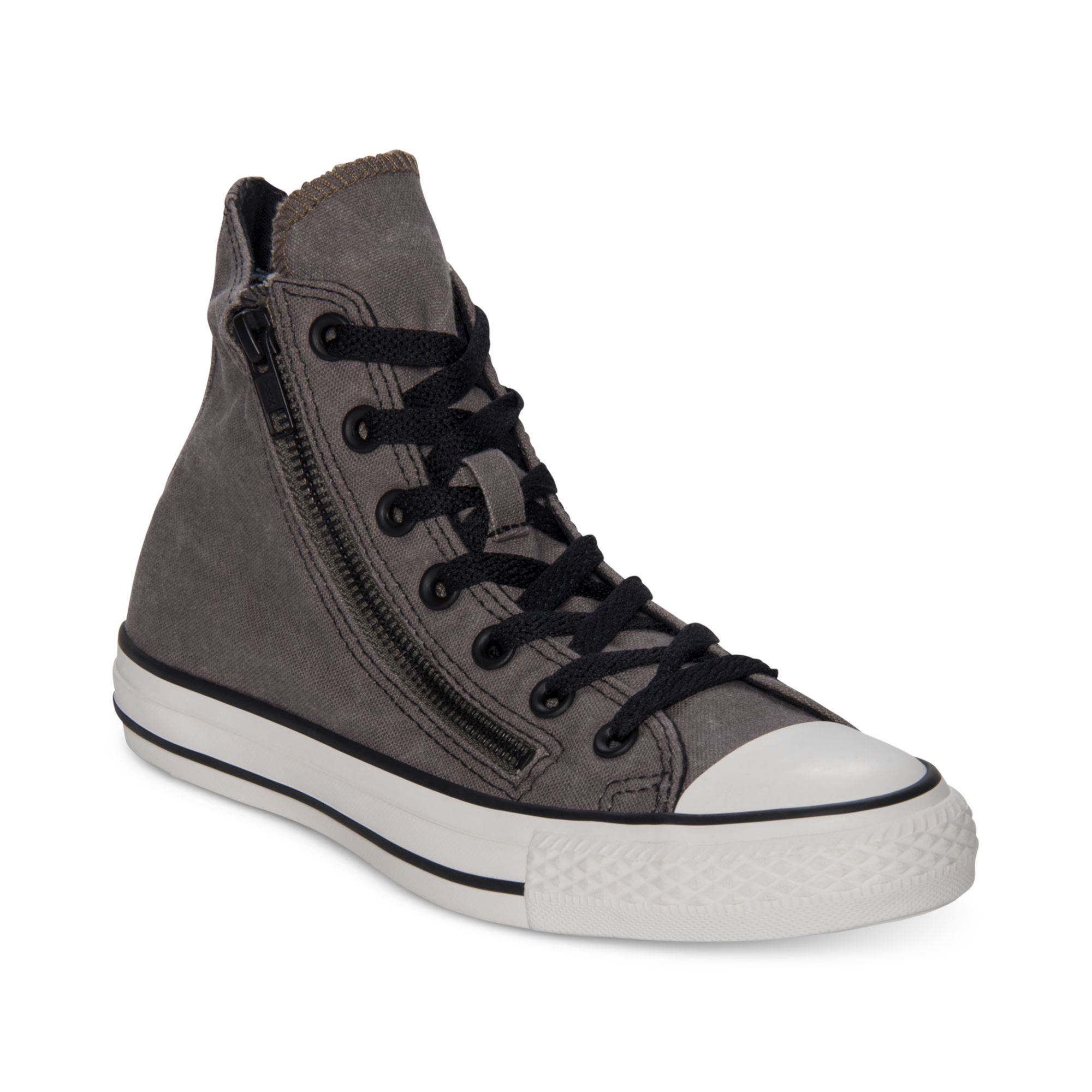 7279a2bba087c Converse Gray Chuck Taylor All Star Double Zip Hi Casual Sneakers for men