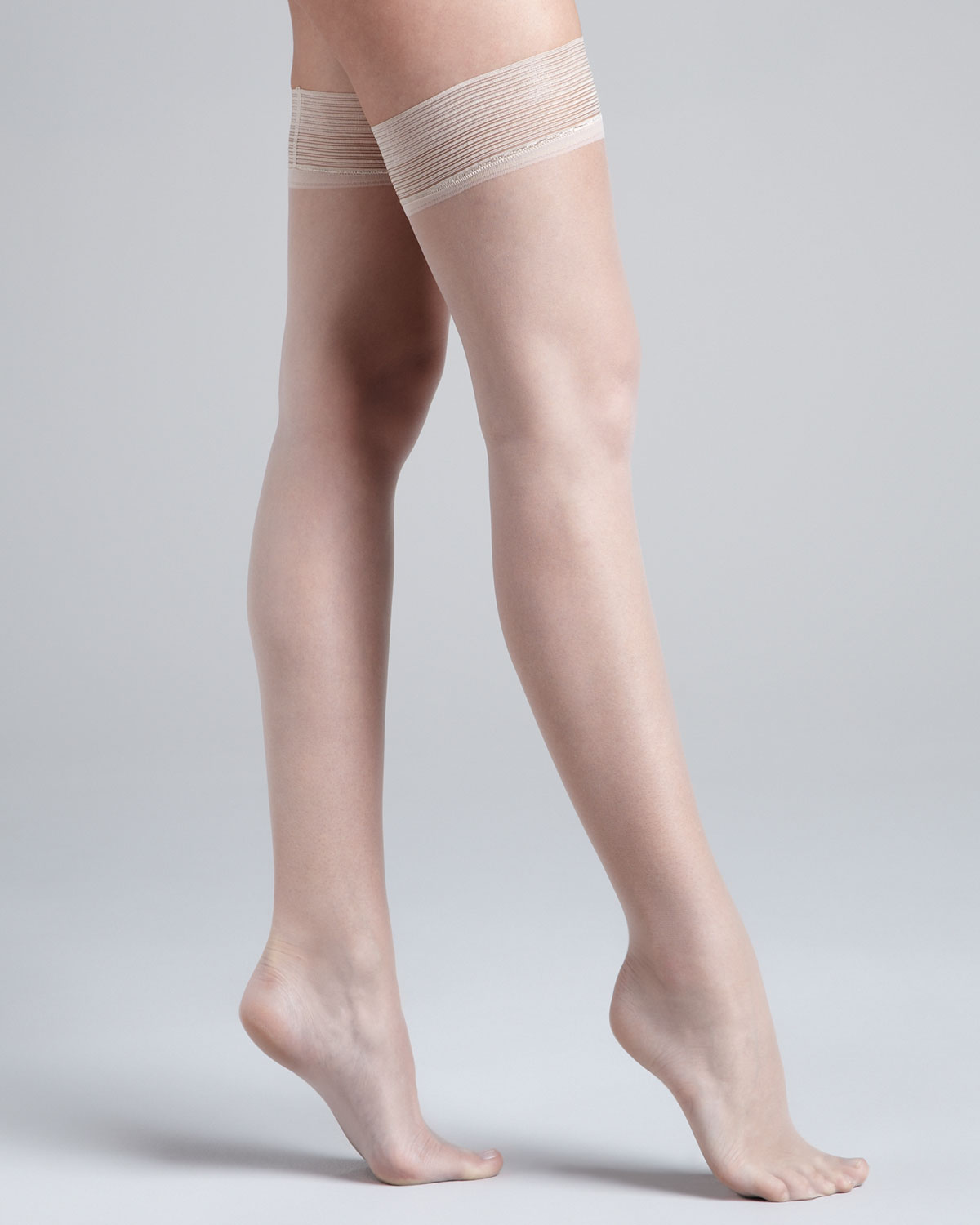 f74114d76e62b Donna Karan Nudes Thigh High Stayup Stockings in Natural - Lyst