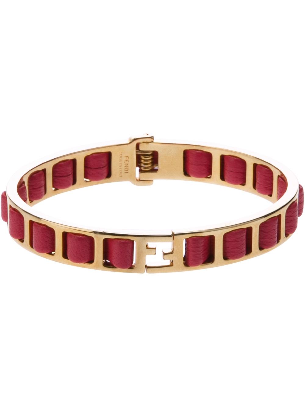 Fendi logo plaque bracelet - Pink & Purple zDKFB