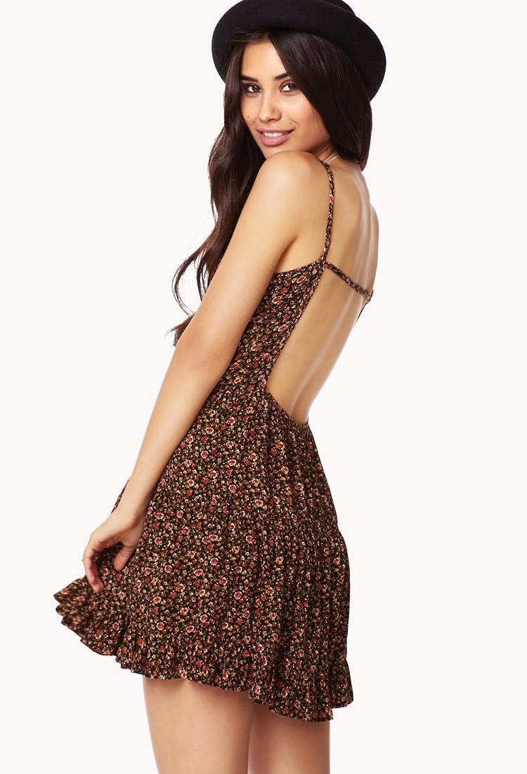 lyst  forever 21 rosebud summer dress in brown