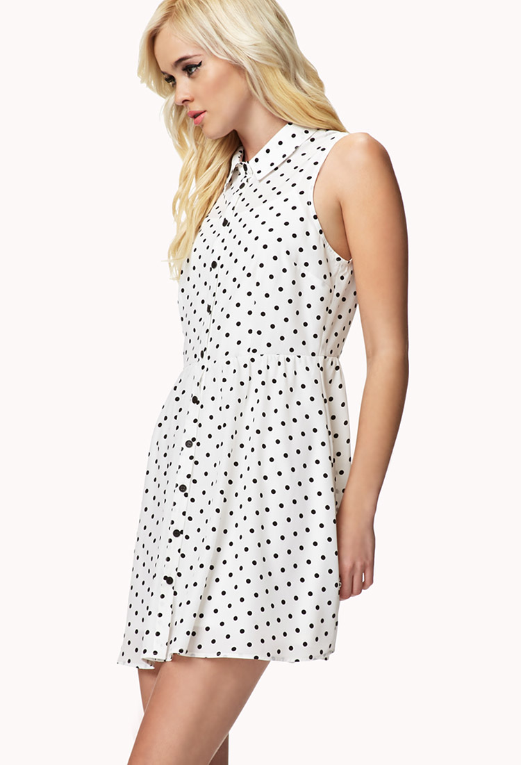 Forever 21 Polka Dot Shirt Dress You've Been Added To The Waitlist ...