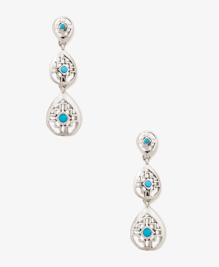 Forever 21 southwestern cutout earrings in silver silver for Forever 21 jewelry earrings