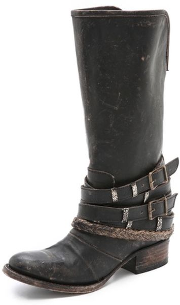 Freebird By Steven Drover Wrap Tall Boots in Black