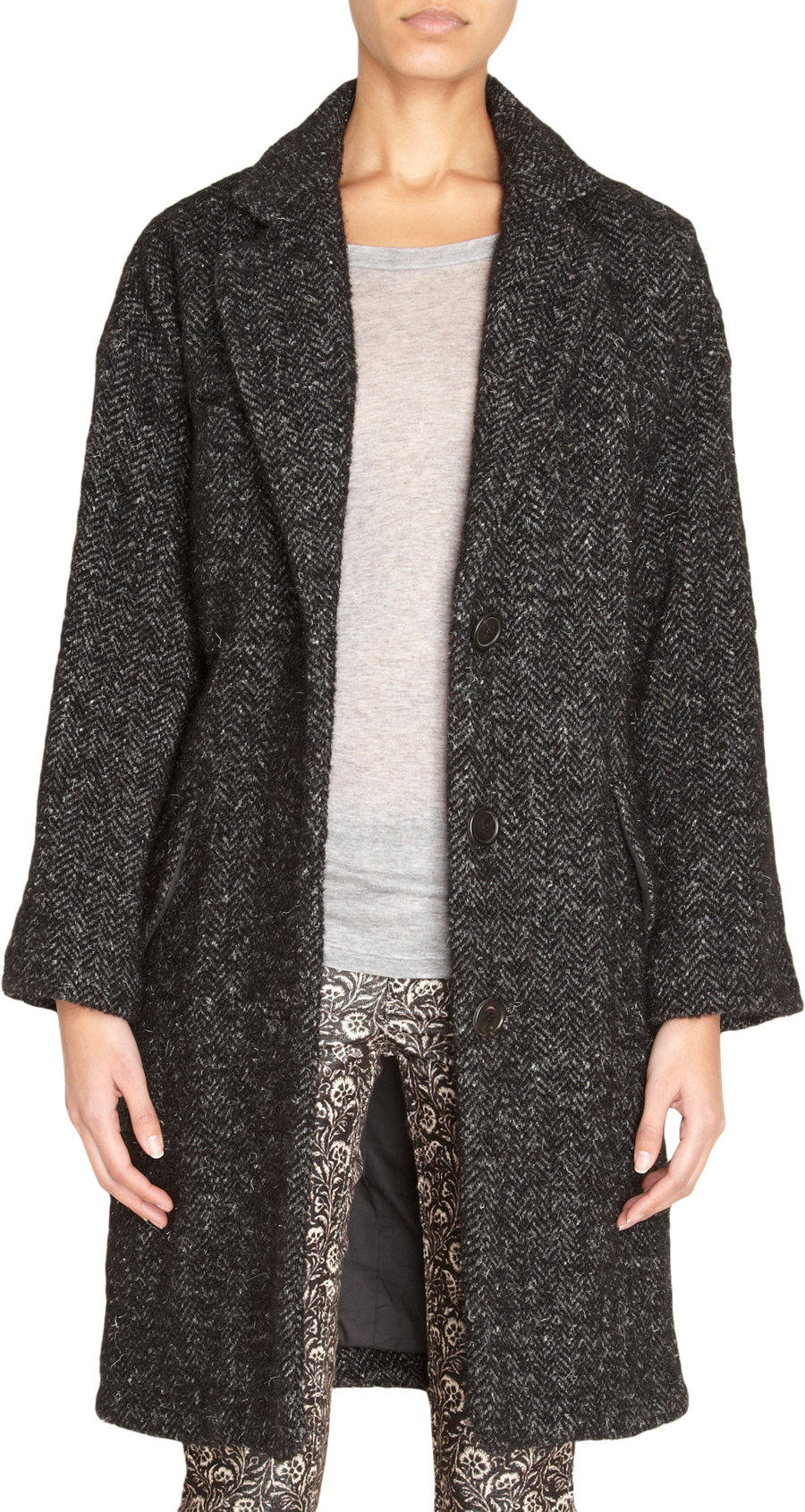 Étoile isabel marant Delphe Coat in Black | Lyst