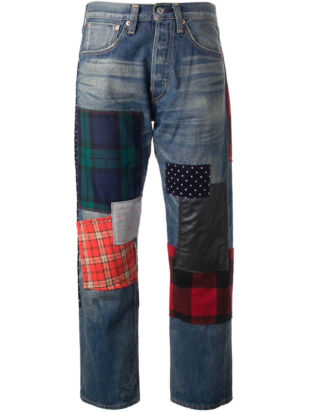 Patchwork Jeans Womens - Jeans Am