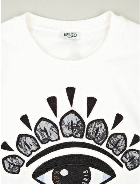 Kenzo Mens Eye Logo Sweatshirt in White for MenKenzo Logo