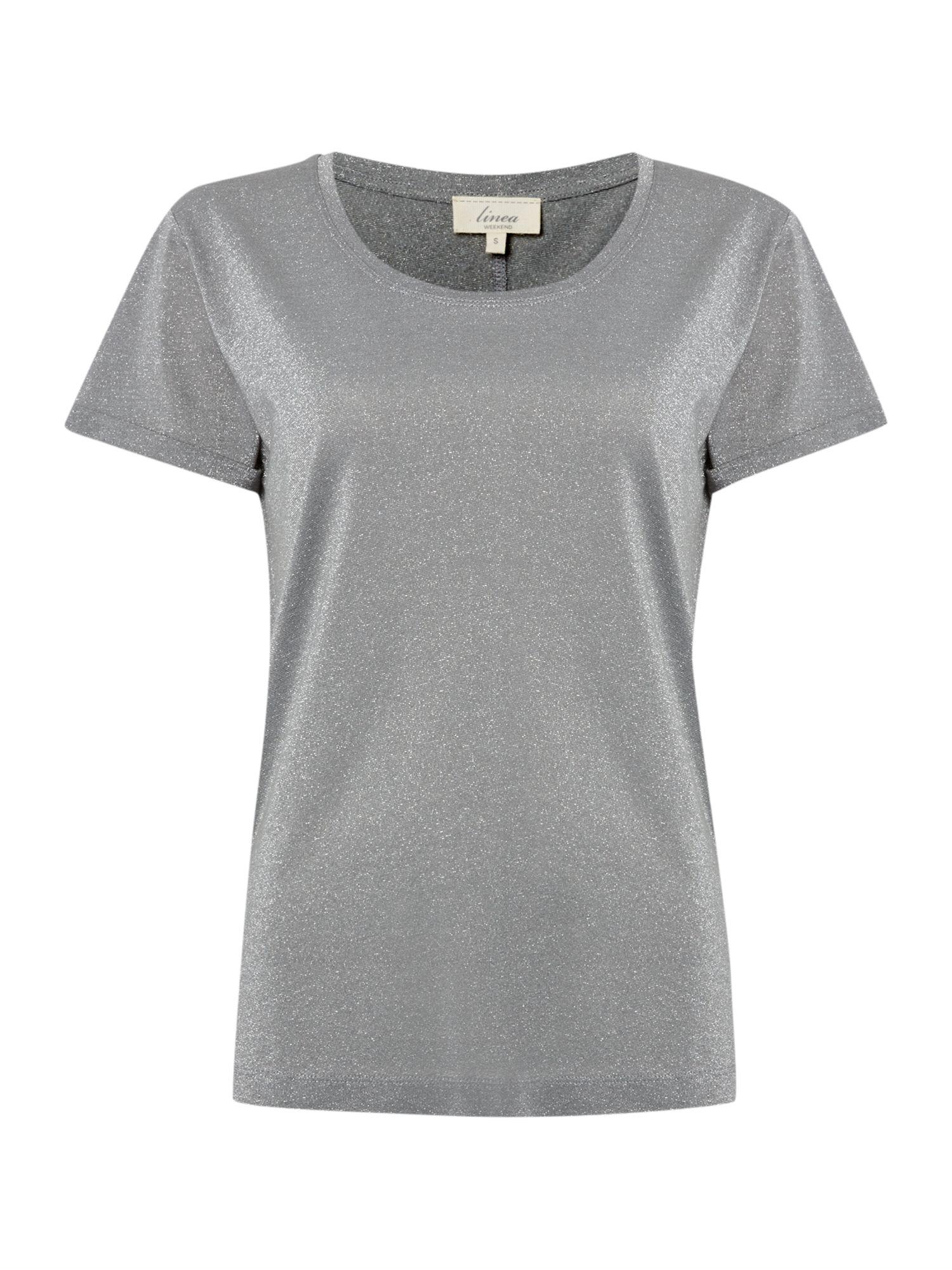 Linea Weekend Ladies Metallic Jersey T Shirt In Metallic