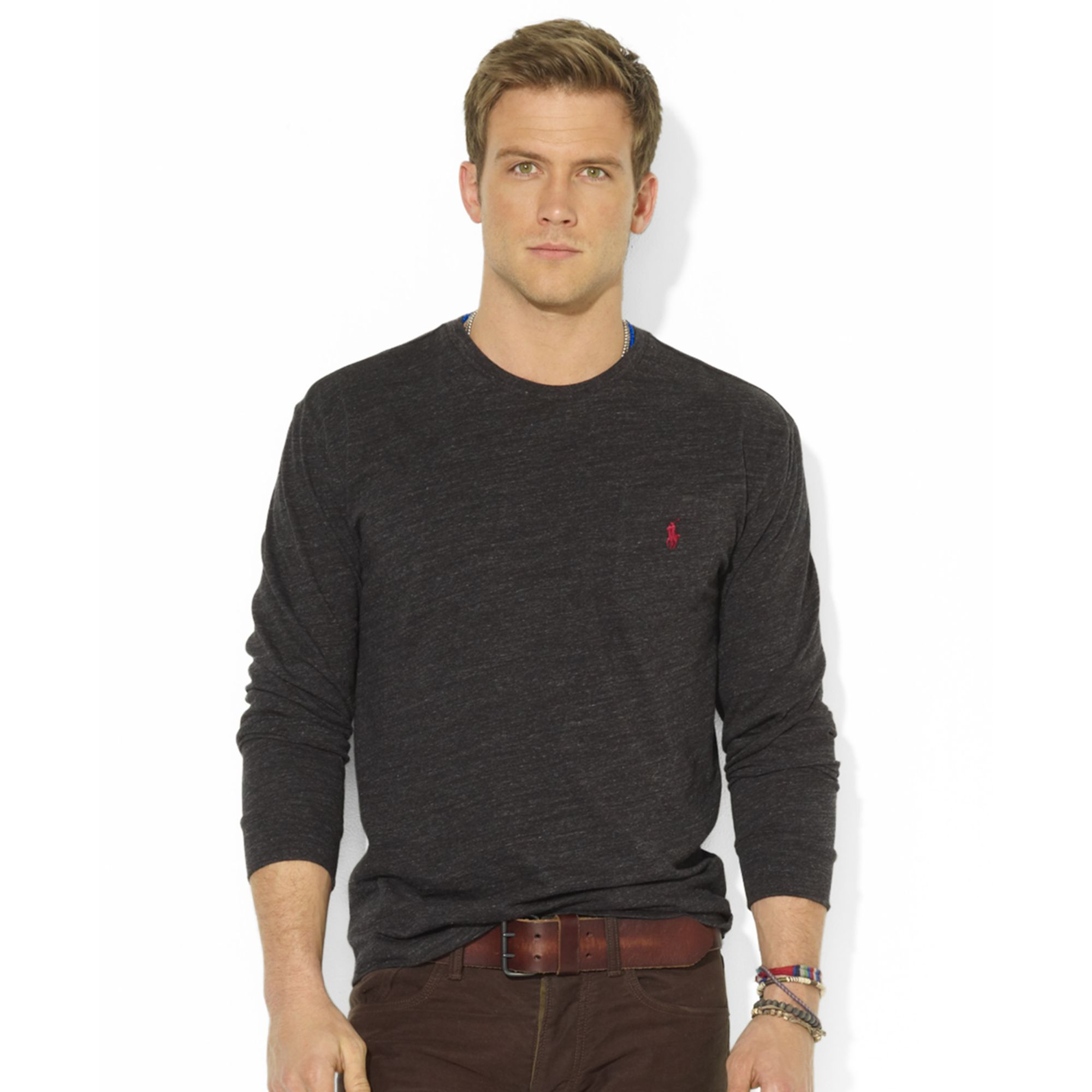 Ralph Lauren Classicfit Longsleeve Cotton Jersey Pocket