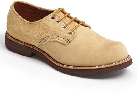 wing suede buck shoe in beige for hawthorne 8057