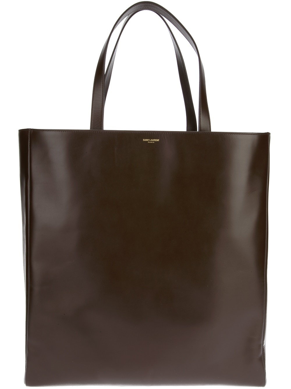 lyst saint laurent classic shopper tote in brown. Black Bedroom Furniture Sets. Home Design Ideas
