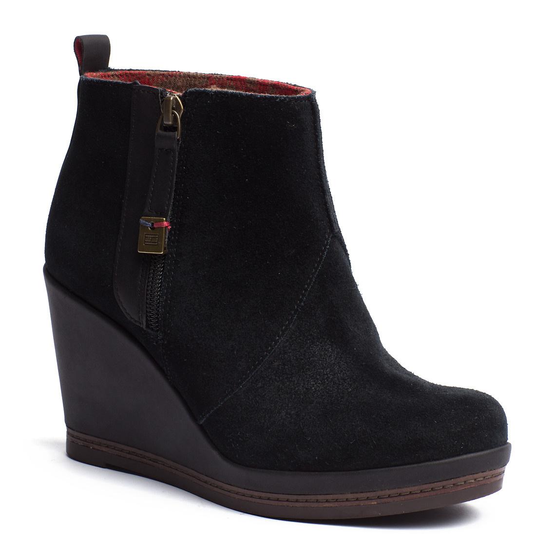 tommy hilfiger natalie ankle boots in black lyst. Black Bedroom Furniture Sets. Home Design Ideas