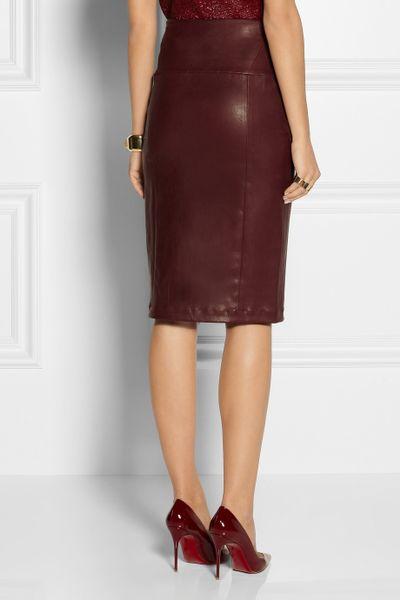 zero cornejo nobi stretch leather pencil skirt in