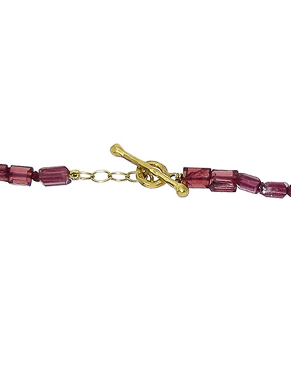 Cathy Waterman Rhodolite Bead Chain in Red