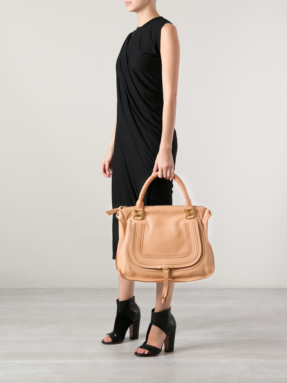 Chloé Marcie Tote in Natural