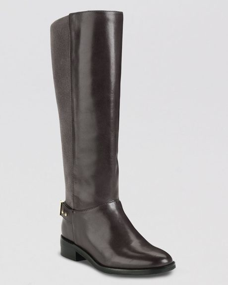 cole haan flat boots adler in gray gull gray